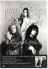 "10/12/94PGN05 ADVERT 10X7"" JIMMY PAGE & ROBERT PLANT : GALLOWS POLE"