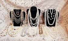 23 Piece Vintage and Modern Mixed Style Faux Pearl Necklace Lot