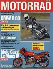 Motorrad 1/85 1985 BMW R 80 Krauser LCR Gespann Moto Guzzi 1000 Le Mans IV moto