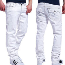 TRUE RELIGION Jeans STRAIGHT W/ FLAP Weiß MCZ859KN8M Hose NEU