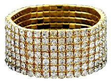 Wedding bridal crystal 7 line G/Clear rhineston stretch fashion bracelet Sa-12