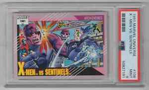 1991 Marvel Universe #106 X-Men vs. Sentinels - PSA 9 MINT - NEWLY GRADED