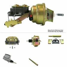 """1960-62 Chevy Truck Manual Firewall Mount Power 7"""" Single Booster Kit Drum/Drum"""