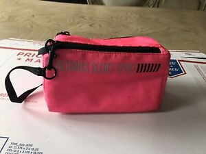 Victoria's Secret Sport Neon Pink Small Mini Gym Bag Wristlet Makeup Zip (Box B)