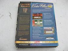PC ceasars Palazzo video poker in rovinata con piccole manuale e CD di Windows 95.