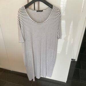 Hindahl & Skudelny Kleid Shirtkleid Strandkleid gestreift blau weiß 44 46 XL