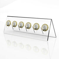 Coin Display Rack Coin Collector Holder Transparent Acrylic Frame Stand