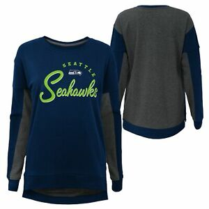 Outerstuff NFL Girls Youth (7-16) Seattle Seahawks In The Mix Crew Neck T-Shirt