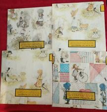 Wrapping Paper Lot Holly Hobbie Gift Wrap 1970s American Greetings 4 Packages