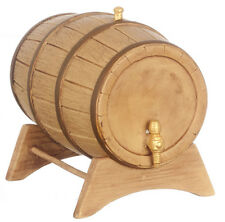 Dollhouse Miniature - Large Wine Barrel with Stand