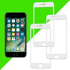 """3x 3D Panzerglas für iPhone 6 6S Displayschutz 4,7"""" Folie Full Cover 9H Weiß"""