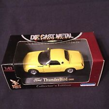 Yat Ming Die Cast Metal Collection Yellow Ford ThunderBird Hard Top 2000 1:43