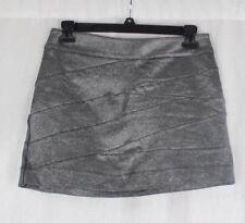 Express short skirt mini gray glitter pleated size 00