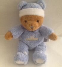 "Carter's ~ ""Just Stay Little"" ~  Plush Bear~Wearing Blue PJ's ~ Small 9"" ~ NWOT"