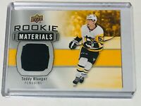 2019-20 UD SERIES 2 ROOKIE MATERIALS JERSEY TEDDY BLUEGER RM-TB PENGUINS