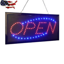 Bright Animated Motion Running Neon Led Business Store Shop Open Sign Chain New