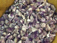 1000 Carat Lots of Polished Tumbled Banded Amethyst + FREE Faceted Gemstone