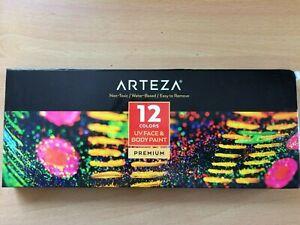 Arteva UV Face and Body Paint 12 Colours
