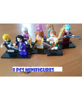 Seven Deadly Sins 8 Pcs Minifigures CUSTOM MOC Meliodas Ban Diane King 2021 Toys