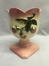 Hull Art Pottery STRAWBERRY FIELDS Planter Vase #46 Pedestal Base Pink Rare