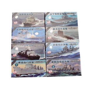 8pcs Set 4D PLA Navy Warship Model Military Collections Assemble Model Kit