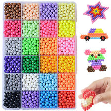Toy 3200X Aqua Water Fuse Beads Refill Aqua beads 24 Separate Color Packing Kids