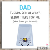 Funny Fathers Day Card Joke Father's Day Card Birthday Humour Dad Christmas Card