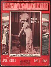 Bring Me Back My Lovin Honey Boy 1913 Sophie Tucker Large Format Sheet Music