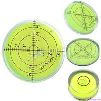 32mm Large Spirit Bubble Level Degree Mark Surface Circular Measuring Bulls Eyes