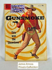 James Arness Marshal Dillon Dell Gunsmoke Comic #7 Feb-Mar 1958  Signed