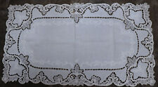 """Antique Lace TableRunner Madeira Embroidery Cut work 28.5"""" by 16"""", Tea Towel"""