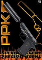 Sohni Wicke 25er Specialagent PPK Schalldämpfer Pistole Kinder Spielzeug