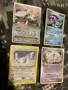 lot de carte pokemon ultra rare: Arceus X/Draco Lumineux/Suicune Promo/mew 10/92