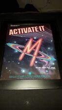 M Pop Muzik Rare Original Promo Poster Ad Framed!