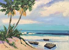 "COAST PALMS 2019 Original Expression Seascape Oil Painting 9x12"" 021419 KEN"