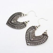 Bronze Texture Retro Drop Earrings Vintage Dangle Jewellery