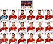 Panini WM 2018 Russia Sticker - Mannschaftspaket Spanien (Sticker 133-151)
