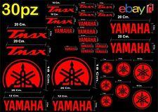 MAXI KIT 30 PZ DI ADESIVI YAMAHA OLD  TMAX  T- MAX 500 - 530 COLORE ROSSO