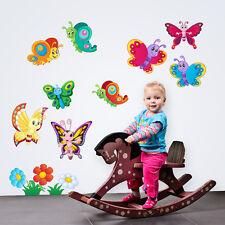 R00123 Wall Stickers Sticker Adesivi Murali Farfalline multicolore 120x30 cm
