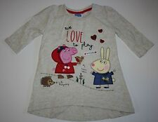 New Peppa Pig Tunic Top Size 1.5 2T 86cm We Love To Play Outside Suzie Sheep