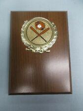 4 x 6 plaque award trophy baseball insert crossed bats mitt and ball