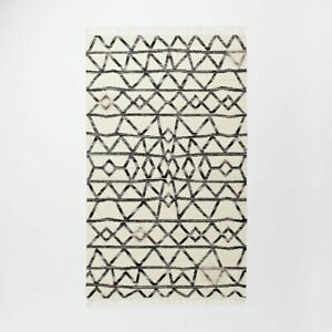 Handmade Black & White Coloured Modern Kilim Home Decorative 6x9 Feet Area Rug