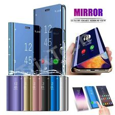 Mirror Flip Case for Samsung Galaxy S10 S9 S8 S7 Slim Leather Stand Phone Cover