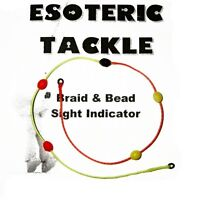 Braid & Bead Sight and Strike Indicator (yellow/orange, BiColour) Czech Nymph