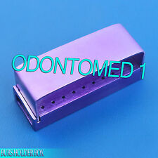 30 Holes Opening Dental Burs Holder Aluminum Endo Box Purple DN-2082