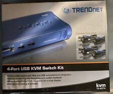 TRENDnet 4-Port USB KVM Switch Kit TK-407K *Sealed