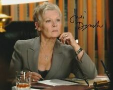 Dame Judi Dench photo signed In Person - M - James Bond - H6