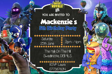 Personalised Childs Birthday Party invitations/invites ~ Fortnite FN2