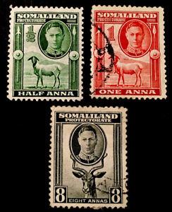 Somaliland King George VI 1942 x1 MINT x2VFU stamps LH