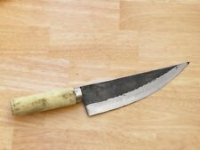 Crude - Japanese Honesuki Carbon Steel Boning Chef Kitchen Knife, Sharp, 8 Inch